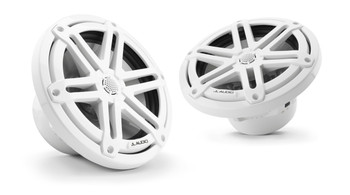 "JL Audio M3-770X-S-Gw - M3 7.7"" Marine Coaxial Speakers (pair) - Gloss White Sport Grilles"