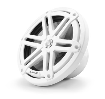 "JL Audio M3-770X-S-Gw - M3 7.7"" Marine Coaxial Speakers (pair) - Gloss White Sport Grilles"