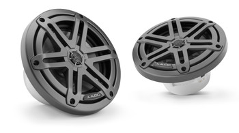 "JL Audio M3-650X-S-Gm - M3 6.5"" Marine Coaxial Speakers (pair) - Gunmetal Sport Grilles"