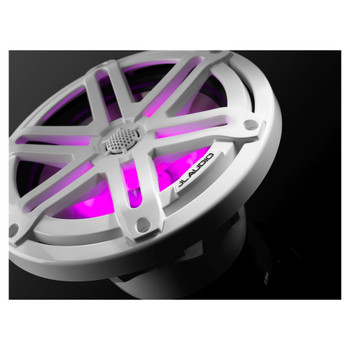 """JL Audio M3-770X-S-Gw-i - M3 7.7"""" Marine Coaxial Speakers (pair) - LED Gloss White Sport Grilles"""