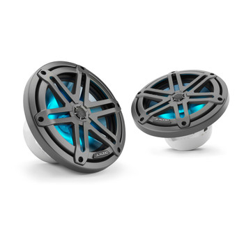 "JL Audio M3-770X-S-Gm-i - M3 7.7"" Marine Coaxial Speakers (pair) - LED Gunmetal Sport Grilles"