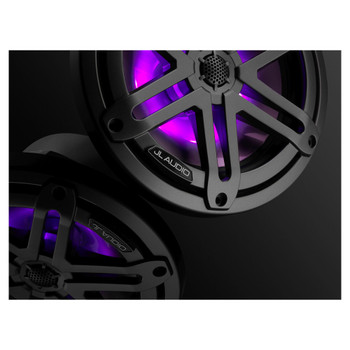"JL Audio M3-770X-S-Gm-i - M3 7.7"" Marine Coaxial Speakers (pair) - LED Gunmetal Sport Grilles"