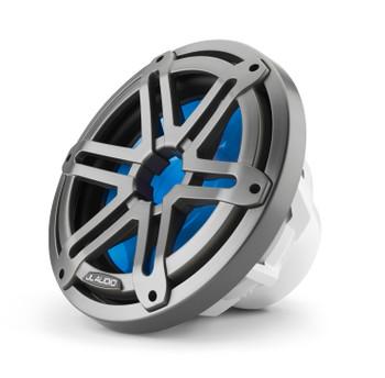 "JL Audio M3-10IB-S-Gm-i-4 - M3 10"" 4-Ohm Infinite Baffle Marine Subwoofer - LED Gunmetal Sport Grille"