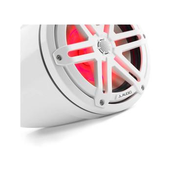 "JL Audio M3-770ETXv3-Gw-S-Gw-i - M3 7.7"" Marine Tower Speakers (pair) - LED Gloss White Sport Grilles"