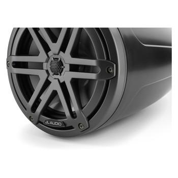 "JL Audio M3-770ETXv3-Sb-S-Gm - M3 7.7"" Marine Tower Speakers (pair) - Satin Black & Gunmetal Sport Grilles"