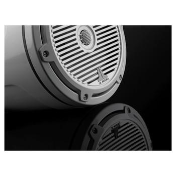 """JL Audio M3-770ETXv3-Gw-C-Gw - M3 7.7"""" Marine Tower Speakers (pair) - Gloss White Classic Grilles"""