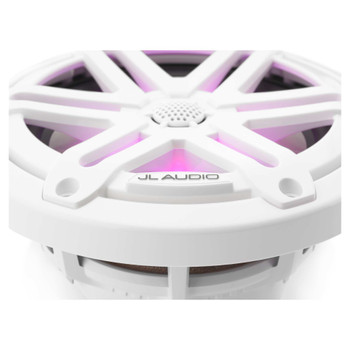 "JL Audio M3-650X-S-Gw-i - M3 6.5"" Marine Coaxial Speakers (pair) - LED Gloss White Sport Grilles"