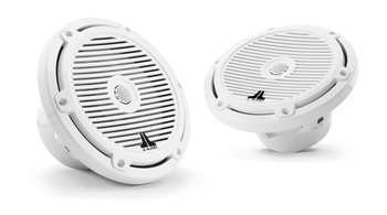 "JL Audio M3-770X-C-Gw - M3 7.7"" Marine Coaxial Speakers (pair) - Gloss White Classic Grilles"