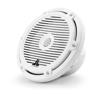 "JL Audio M3-770X-C-Gw - M3 7.7"" Marine Coaxial Speakers (pair) - Gloss White Classic Grilles"