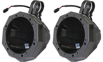 "SSV Works US2-C65U-175 Universal Cage Mount 6.5"" Speaker Enclosures With 1.75"" Roll Bar Clamps"