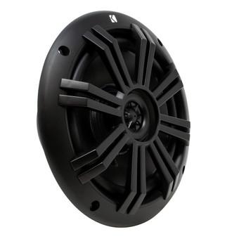 JVC KD-MR1BTS Bluetooth Marine Receiver w/ Two Pairs of Kicker Marine OEM Replacement Speakers - Black