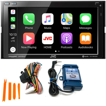 JVC KW-M855BW Compatible with CarPlay, Wireless Android Auto + SWI-RC Steering Wheel Control Interface