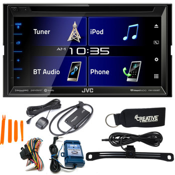 "JVC KW-V350BT 6.8"" Receiver With Bluetooth, 13-Band EQ + Steering Wheel Interface, Back-Up Camera & SiriusXM Tuner"