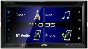"JVC KW-V350BT 6.8"" Receiver With Bluetooth, 13-Band EQ + SWI-RC Steering Wheel Control Interface & Back-Up Camera"