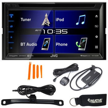 "JVC KW-V350BT 6.8"" Receiver With Bluetooth, 13-Band EQ + SiriusXM Satellite Radio Tuner & Back-Up Camera"