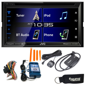 "JVC KW-V350BT 6.8"" Receiver With Bluetooth, 13-Band EQ + SiriusXM Tuner & SWI-RC Steering Wheel Control Interface"
