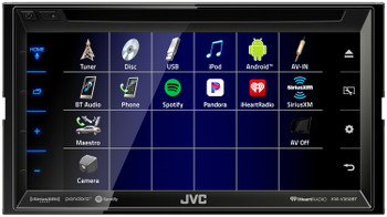 "JVC KW-V350BT 6.8"" Receiver With Bluetooth, 13-Band EQ + SiriusXM Satellite Radio Tuner"