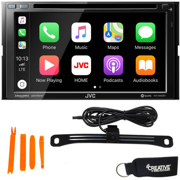 JVC KW-V850BT Compatible with Android Auto, CarPlay + Back-Up Camera
