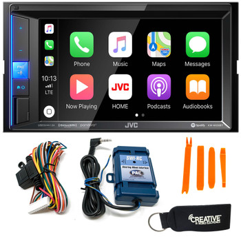 JVC KW-M650BT CarPlay Compatible Media Receiver + SWI-RC Steering Wheel Control Interface