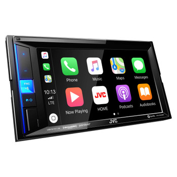 JVC KW-M650BT CarPlay Compatible Media Receiver + Steering Wheel Interface, Back-Up Camera & SiriusXM Tuner