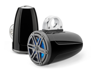JL Audio MX770-ETXv3-SG-TLD-B MX Series 7.7-inch Enclosed Tower Coaxial Speaker System Titanium Blue LED
