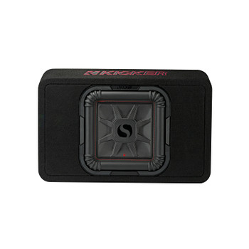 "Kicker 46TL7T104 TL7T 10"" (25cm) Solo-Baric Subwoofer in Thin Profile Enclosure, 4-Ohm, 500 Watt"