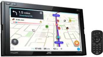 JVC KW-M845BW Compatible with CarPlay, Wireless Android Auto 2-DIN AV Receiver (No CD Drive)