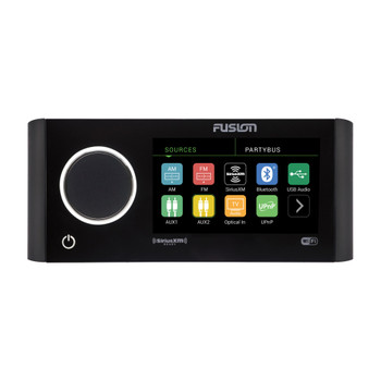 Fusion MS-RA770 Apollo Touchscreen Marine Entertainment System With Two Wireless Remotes For Dual Zones - Black