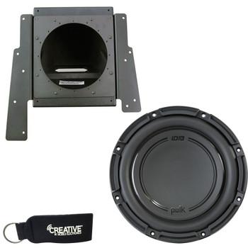 "SSV Works SS-BS10U 10"" Subwoofer Enclosure for Behind Drivers or Passenger Seat + Polk Audio DB1042DVC 10"" Subwoofer"