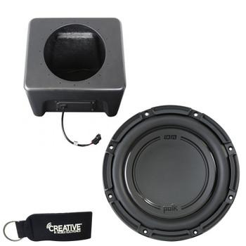 "SSV Works RG4-SB10 10"" Sub Enclosure Compatible With Polk Audio DB1042DVC Subwoofer For Polaris Ranger XP1000 2018+"