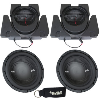 SSV Works X3-USL10U Dual Sub Enclosures Compatible with Polk Audio MM1042SVC Subwoofers For Can-Am Maverick X3 & X3 Max