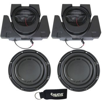 SSV Works X3-USL10U Dual Sub Enclosures Compatible With Polk Audio DB1042SVC Subs For Can-Am Maverick X3 and X3 Max