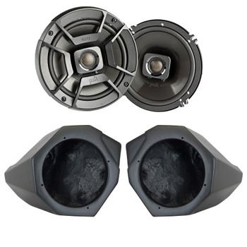 "SSV Works For X3-F65U Can-Am X3 Front Kick Pods + Polk DB652 6.5"" Marine Rated Coax Speakers"