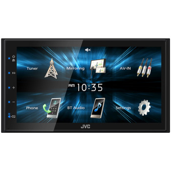 """JVC KW-M150BT Digital Media Receiver featuring 6.8"""" WVGA Capacitive Monitor"""
