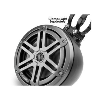 "JL Audio M3-VeX 6.5"" Enclosed Speaker System for Marine & Powersports,  Matte Black & Gunmetal - M3-650VEX-Mb-S-Gm"