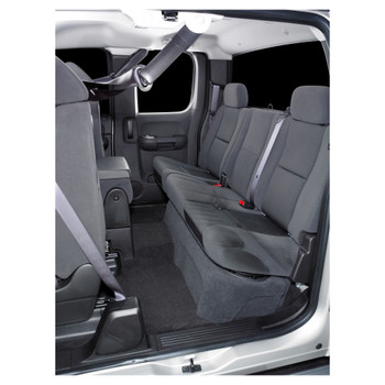 JL Audio SB-GM-SLVEXT2/10W1v3/BK:Stealthbox® for 2007-2013 Chevrolet Silverado / GMC Sierra Ext Cab Trucks with Ebony interior
