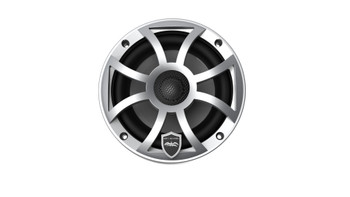 Wet Sounds REVO 6-XSS Silver Open XS Grille 6.5 Inch Marine LED Coaxial Speakers (pair) - Open Box