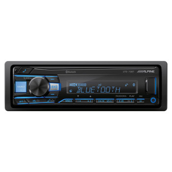 Alpine UTE-73BT Mech-less Digital Media Receiver with Bluetooth® Wireless Technology - Open Box