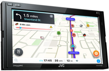 JVC KW-M740BT Compatible with CarPlay, Android Auto 2-DIN AV Receiver (No CD Drive) - Open Box