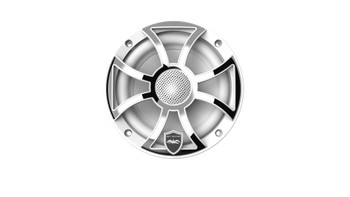 Wet Sounds REVO 6-XSW-SS White XS / Stainless Overlay Grill 6.5 Inch Marine LED Coaxial Speakers - Used Acceptable
