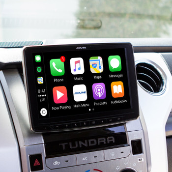 "Alpine iLX-F309TND HALO9 9"" Receiver for Toyota Tundra 2014+ - Works With CarPlay, Android Auto (No-CD) - Used Very Good"