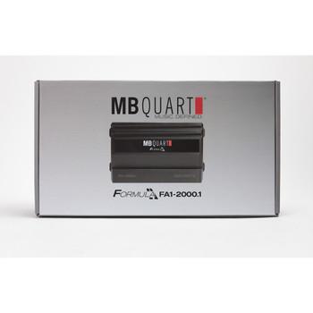 MB Quart FA1-2000.1 Formula Series 1 x 375 Watts @ 4 Ohms, 1 x 750 Watts @ 2 Ohms, 1 x 2000 Watts @ 1 Ohm