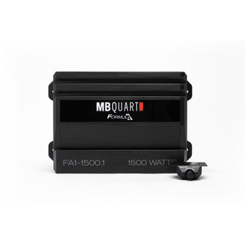 MB Quart FA1-1500.1 Formula Series 1 x 500 Watts @ 4 Ohms, 1 x 1000 Watts @ 2 Ohms, 1 x 1500 Watts @ 1 Ohm