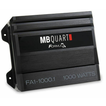 MB Quart FA1-1000.1 Formula Series 1 x 250 Watts @ 4 Ohms, 1 x 500 Watts @ 2 Ohms, 1 x 1000 Watts @ 1 Ohm