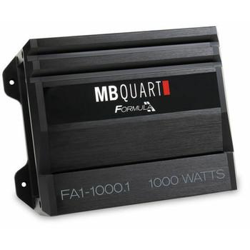 MB Quart FA1-1000.1 Formula Series 1 x 250 Watts @ 4 Ohms, 1 x 500 Watts @ 2 Ohms, 1 x 1000 Watts @ 1 Ohm