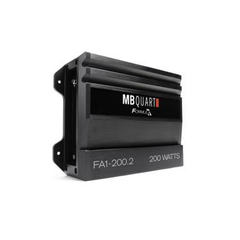 MB Quart FA1-200.2 Formula Series 2 x 50 Watts @ 4 Ohms, 2 x 100 Watts @ 2 Ohms, 1 x 200 Watts Bridged @ 4 Ohms