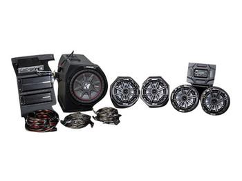 Kicker & SSV Works 45PGN5 5 Speaker Polaris General Stereo System with Kicker Bullfrog - BF400G