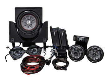 Kicker & SSV Works 45CX35  5 Speaker CanAm X3 Stereo System with Kicker Bullfrog - BF400GY