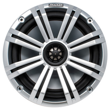 "Kicker 8"" Silver Marine LED Speakers - 1-Pair of OEM replacement speakers"