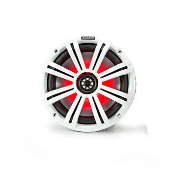 """Kicker 8"""" White Wake Tower LED Marine Speakers 2-Pairs"""
